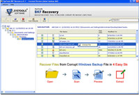 Recovery of NTBackup File