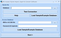 MS Access SQLite Import, Export & Convert Software screenshot medium