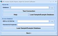 MS Access SQLite Import, Export & Convert Software screenshot medium