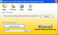 Free Outlook Password Recovery screenshot medium