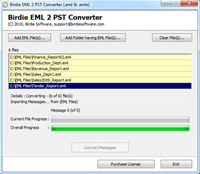 Transfer EML to PST