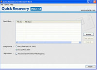 Microsoft Word File Repair software screenshot medium
