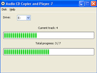 Audio CD Copier and Player-7 screenshot medium