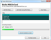 Migrate MSG to vCard