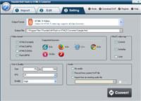 ThunderSoft Flash to HTML5 Converter screenshot medium
