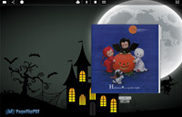 Page Flip Book Templates Halloween Night