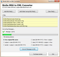 Convert MSG Messages to EML