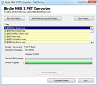 Import MSG to PST