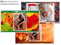 Maple Leaves Theme for Flash Magazine