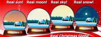Real Christmas Globe