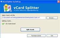 Split vCard Files screenshot medium