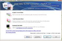 FlipPDF Free DJVU to PDF Converter