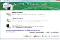 FlipPageMaker Free DjVu to PDF