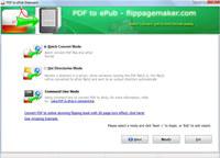 FlipPageMaker Free PDF to ePub screenshot medium