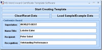 MS Word Award Certificate Template Software screenshot medium