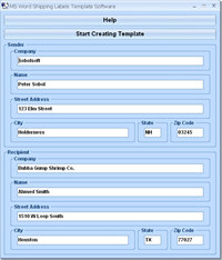 MS Word Shipping Labels Template Software