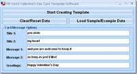 MS Word Valentine`s Day Card Template Software