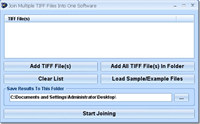 Join Multiple TIFF Files Into One Software