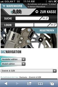 xt:Commerce Zuznow Mobile Module screenshot medium