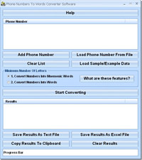 Phone Numbers To Words Converter Software