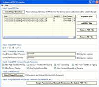 Advanced PDF Protector screenshot medium