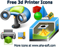 Free 3d Printer Icon Set