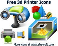 Free 3d Printer Icon Set