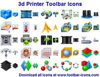 3D Printer Toolbar Icons