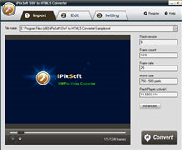 iPixSoft SWF to HTML5 Converter screenshot medium