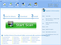 Toshiba Drivers Download Utility screenshot medium