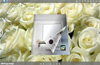 White Rose Style Theme for 3D Book