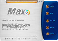 Max 3GP PSP IPOD PDA MP4 Video Converter