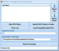 JPG Files To Animated GIF Converter Software