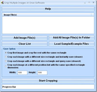 Crop Multiple Images At Once Software screenshot medium