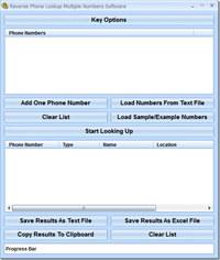 Reverse Phone Lookup Multiple Numbers Software