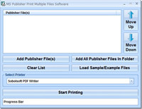 MS Publisher Print Multiple Files Software