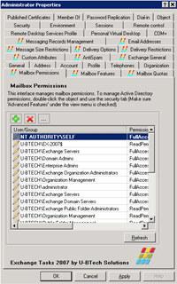 Exchange Tasks 2007
