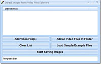 Extract Images From Video Files Software screenshot medium