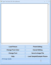 Type Text Into JPG File Software