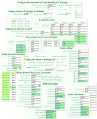 MoneyToys Website Calculators