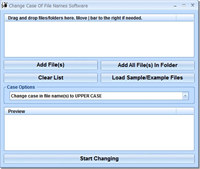 Change Case Of File Names Software screenshot medium