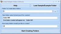 Create Multiple Folders Software