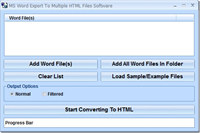 MS Word Export To Multiple HTML Files Software screenshot medium
