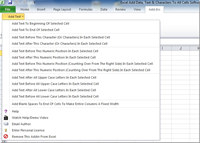 Excel Add Data, Text & Characters To All Cells Software