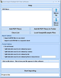 Excel Import Multiple PDF Files Software