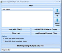 Excel Import Multiple XML Files Software