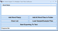 MS Word Export To Multiple Text Files Software
