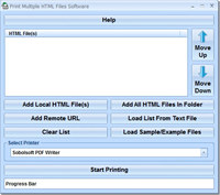 Print Multiple HTML Files Software