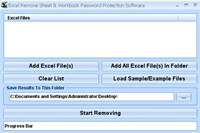 Excel Remove Sheet & Workbook Password Protection Software