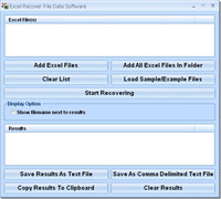 Excel Recover File Data Software